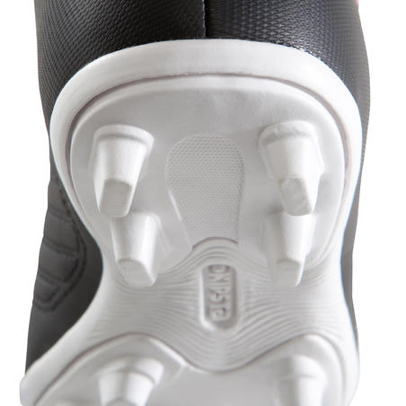 Agility 100 FG Dry Field Soccer Cleats Black/White - Kids'
