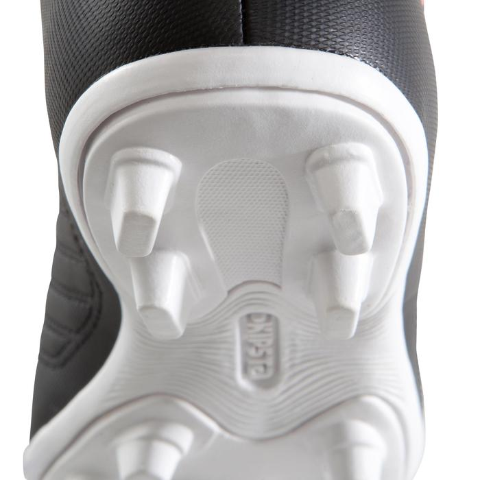 Chaussure de football enfant terrains secs First FG noire blanche - 1205311