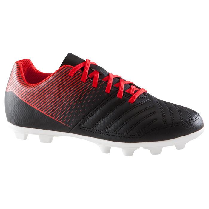 Chaussure de football enfant terrains secs First FG noire blanche - 1205321