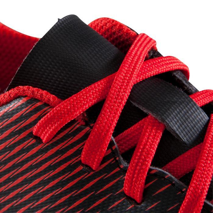 Chaussure de football enfant terrains secs First FG noire blanche - 1205335