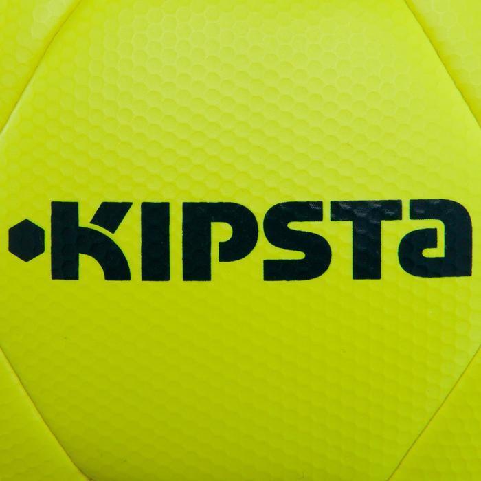 Balón de fútbol F500 Híbrido talla 5 amarillo azul