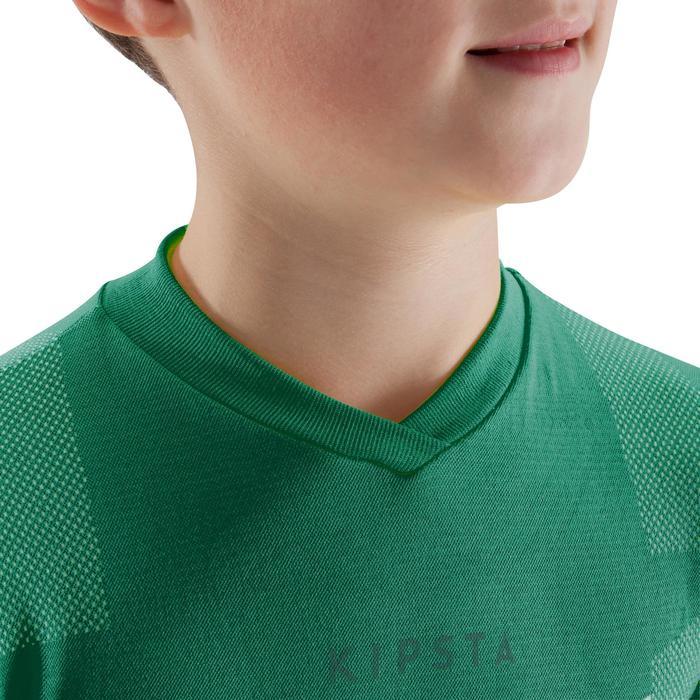 Sous maillot respirant manches longues enfant Keepdry 500 vert émeraude