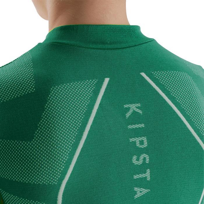 Funktionsshirt langarm Keepdry 500 atmungsaktiv Kinder grün