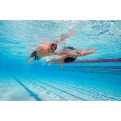 Maillot de bain de natation une pièce fille résistant au chlore Jade noir