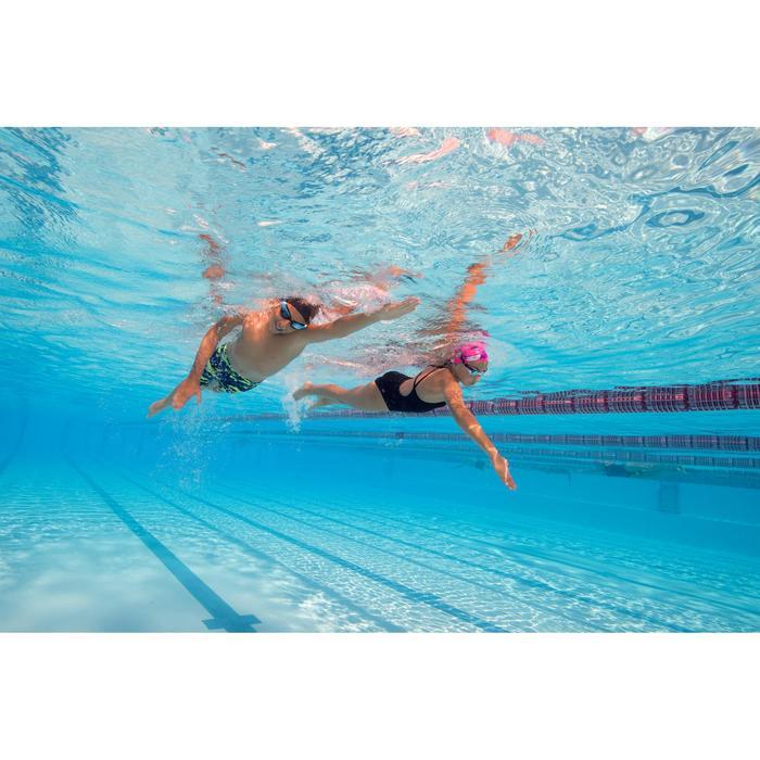 Bañador de natación una pieza para niña, resistente al cloro Jade Negro