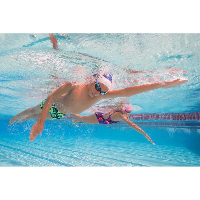 Maillot de bain de natation une pièce fille résistant au chlore Jade - 1205500