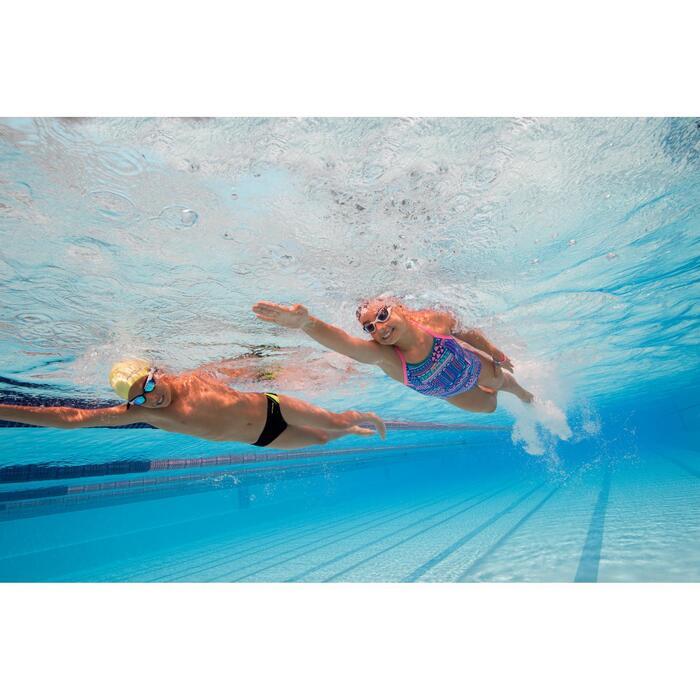 Zwemslip jongens 900 Yoke zwart/groen/blauw
