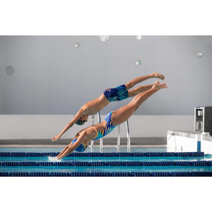Maillot de bain de natation une pièce fille résistant au chlore Lidia - 1205504