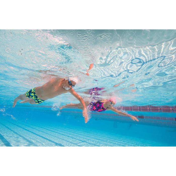 Maillot de bain de natation une pièce fille résistant au chlore Jade - 1205510