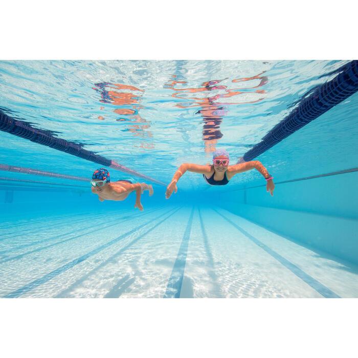 Maillot de natation fille deux pièces leony shorty bleu rose