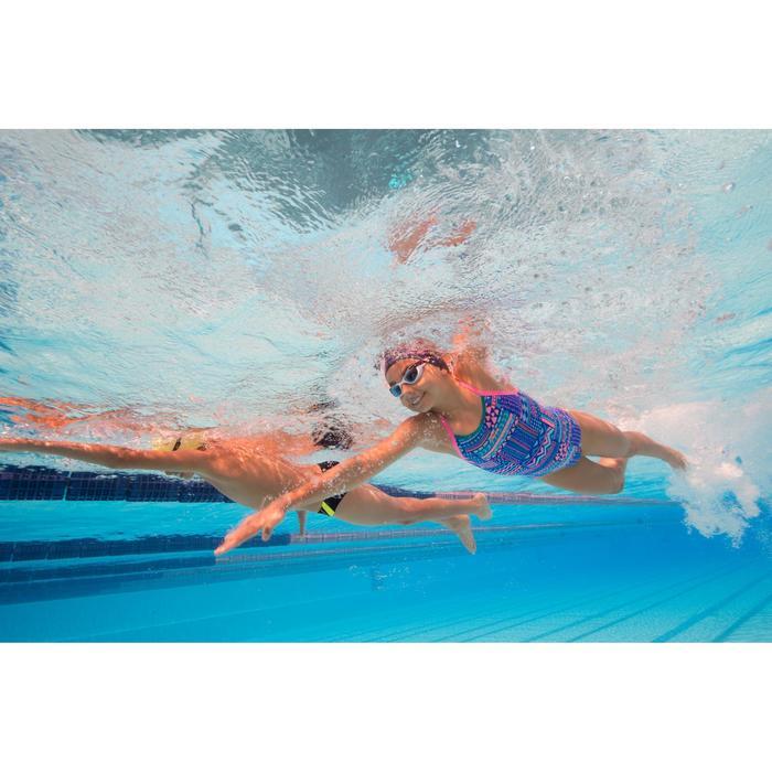 Maillot de bain de natation une pièce fille résistant au chlore Jade - 1205521