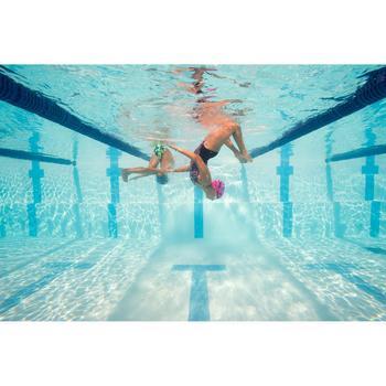 Bañador de natación una pieza para niña, resistente al cloro Kamiye Rosa