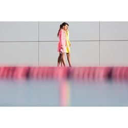Peignoir enfant coton léger natation rose avec ceinture, poches et capuche