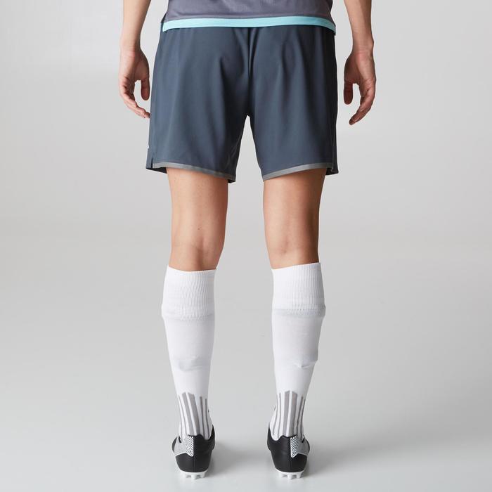 Fußballshorts F500 Damen grau/mintgrün