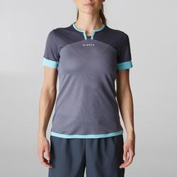 Camiseta de fútbol mujer F500 gris menta