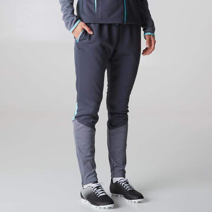 Pantalon d'entraînement de football femme TP500 gris menthe - 1205596
