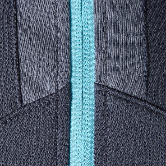 Veste d'entraînement de football femme T500 grise menthe - 1205598