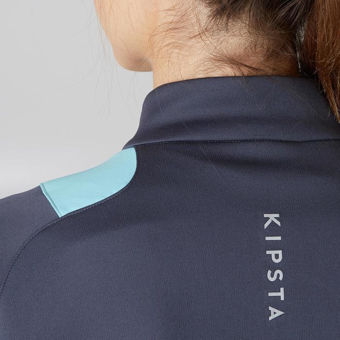 Veste d'entraînement de football femme T500 grise menthe - 1205601