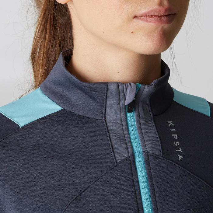 Veste d'entraînement de football femme T500 grise menthe - 1205603