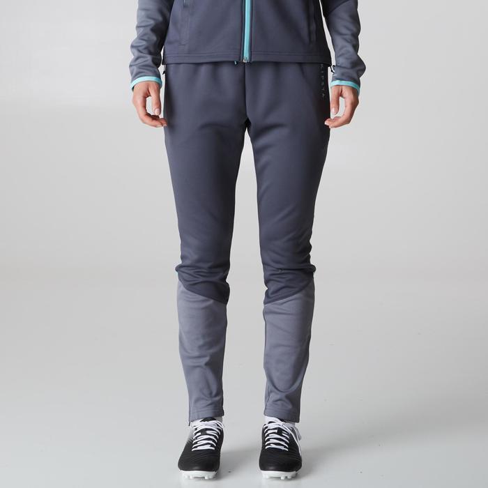 Pantalon d'entraînement de football femme TP500 gris menthe - 1205604