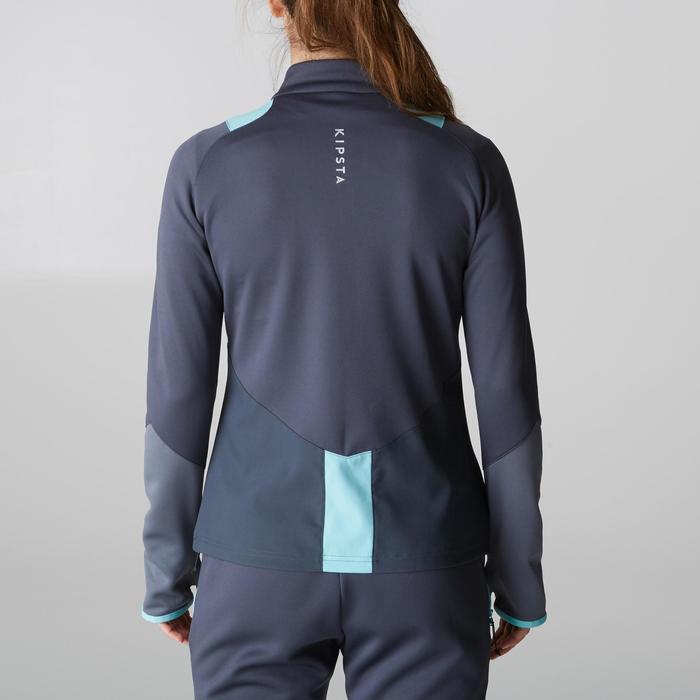 Veste d'entraînement de football femme T500 grise menthe - 1205609