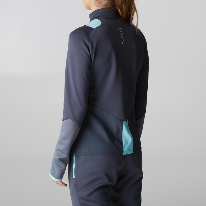 Veste d'entraînement de football femme T500 grise menthe - 1205614