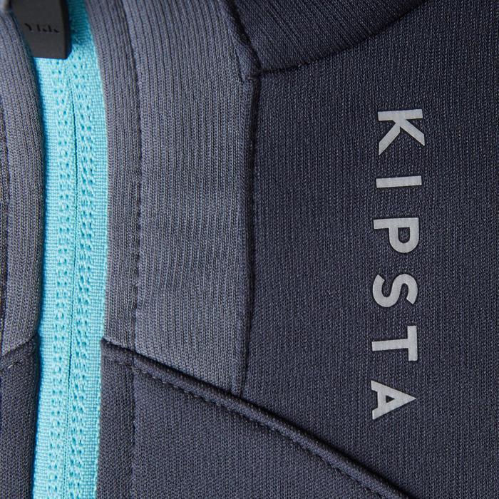 Veste d'entraînement de football femme T500 grise menthe - 1205616