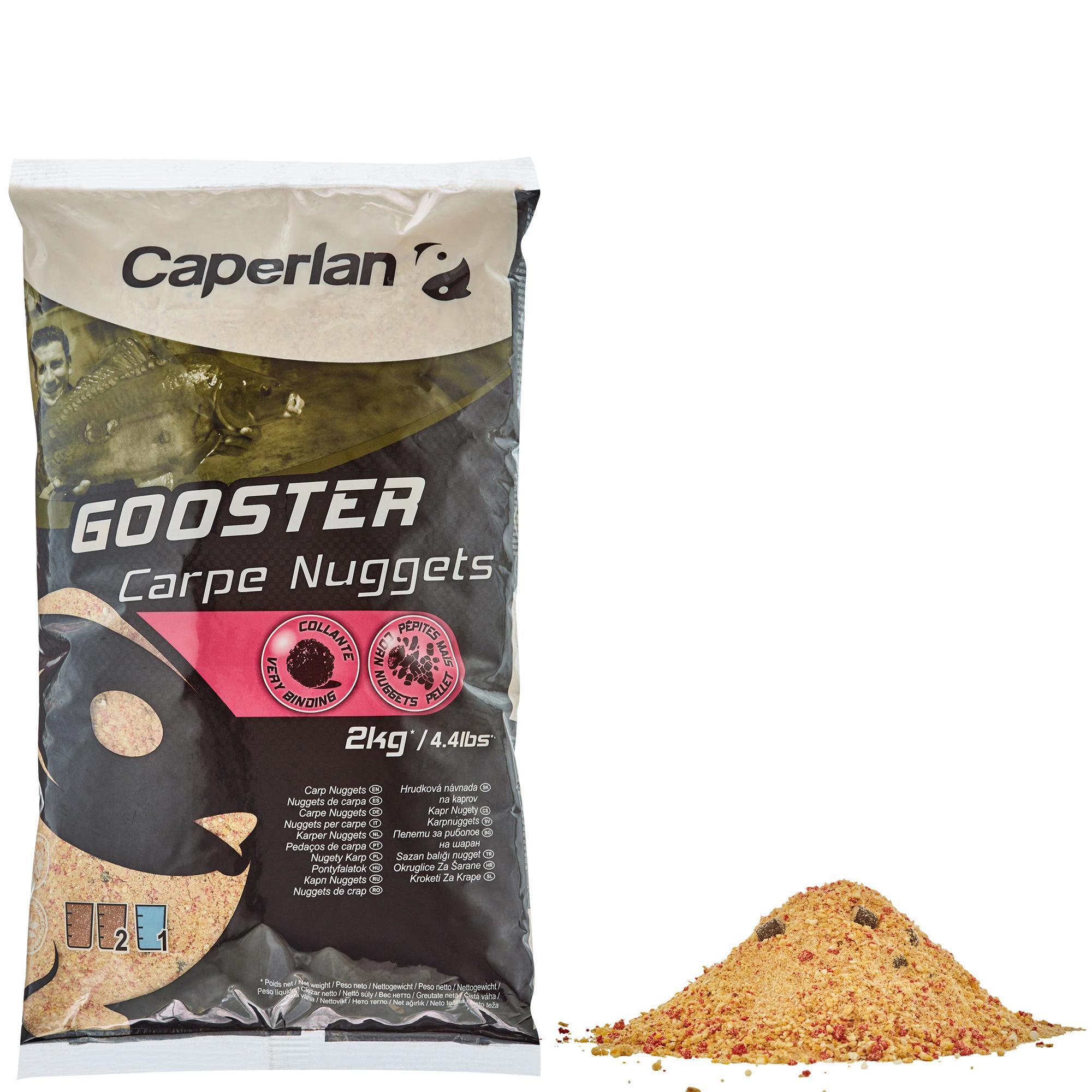 Caperlan Lokvoer voor statisch bodemvissen Gooster karper nuggets 2 kg