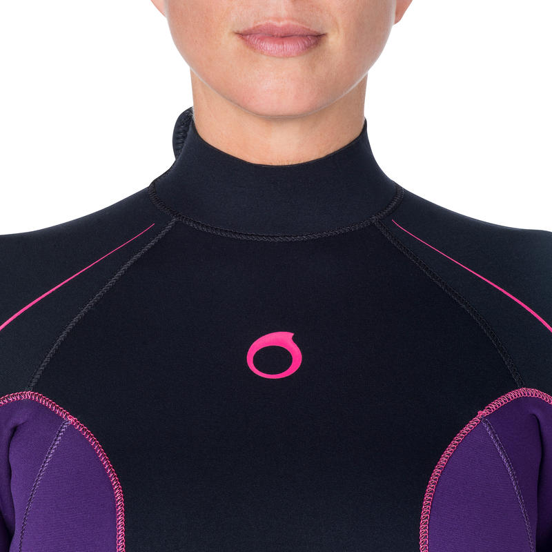 SCD 100 Women's 3 mm Full Diving Wetsuit with Back Zip.