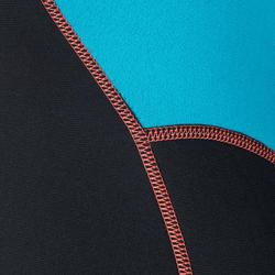 Dames fullsuit voor snorkelen 2 mm zwart/turquoise - 1205805