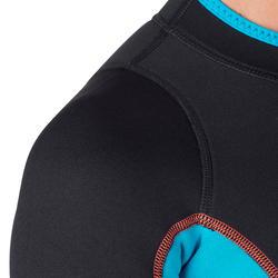 Dames fullsuit voor snorkelen 2 mm zwart/turquoise - 1205809