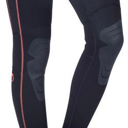 Dames fullsuit voor snorkelen 2 mm zwart/turquoise - 1205812