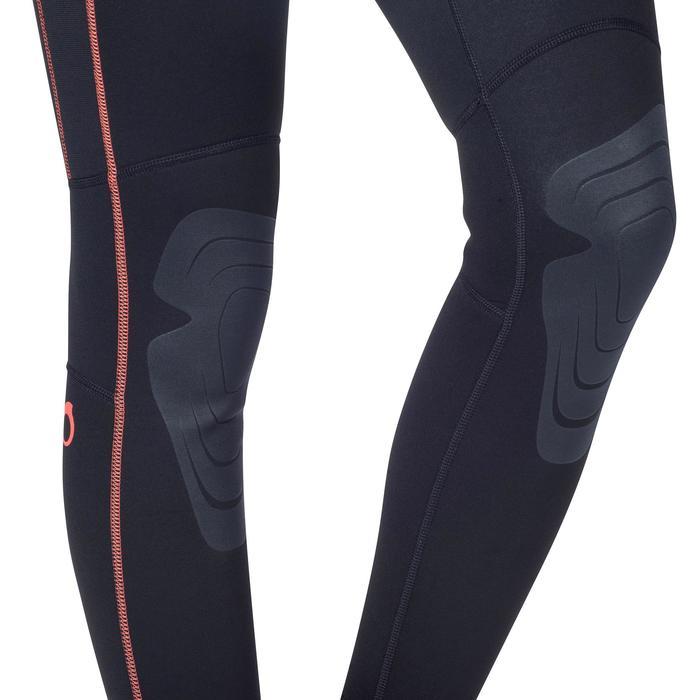 Combinaison intégrale de snorkeling femme 2mm noire turquoise - 1205812