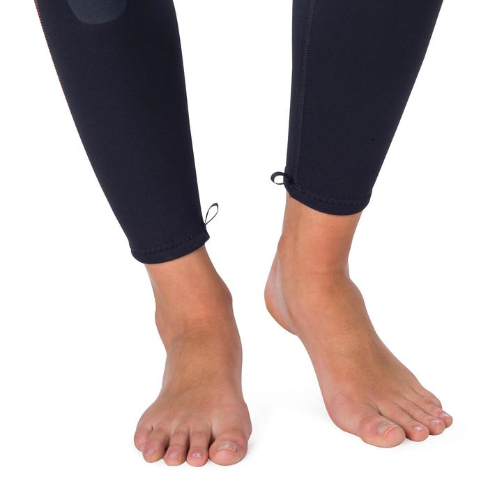 Dames fullsuit voor snorkelen 2 mm zwart/turquoise