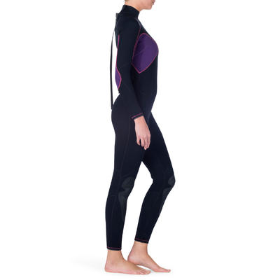 Combinaison intégrale femme de plongée SCD 100 3 mm avec fermeture dorsale