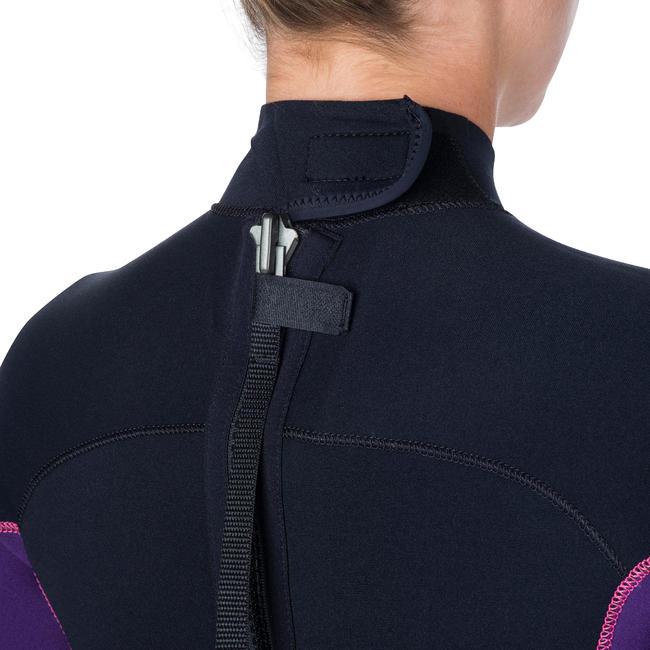 Women's 3 mm Wetsuit SCD 100 with Back Zip.
