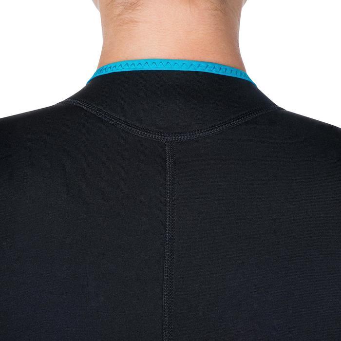 Combinaison intégrale de snorkeling femme 2mm noire turquoise - 1205842