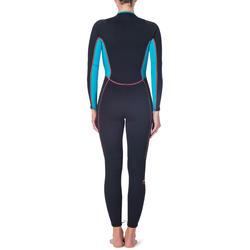 Dames fullsuit voor snorkelen 2 mm zwart/turquoise - 1205848