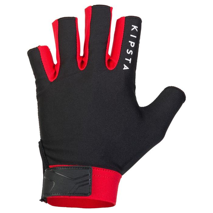 Mitones rugby R500 negro rojo