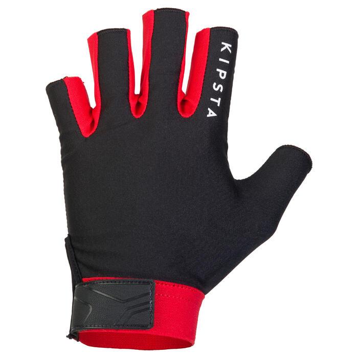Rugby-Handschuhe R500 schwarz/rot