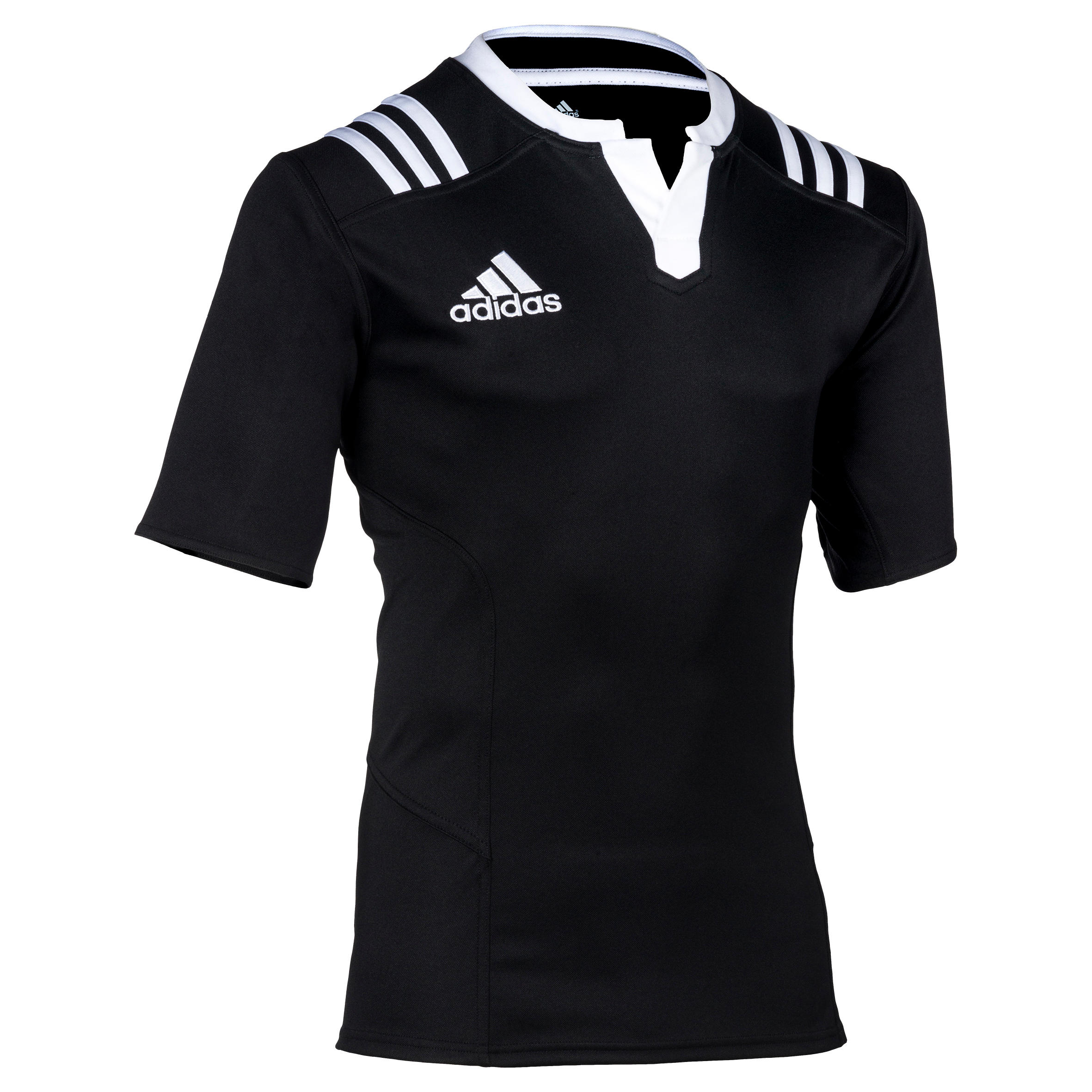 Adidas Rugbyshirt voor volwassenen Adidas 3S zwart wit