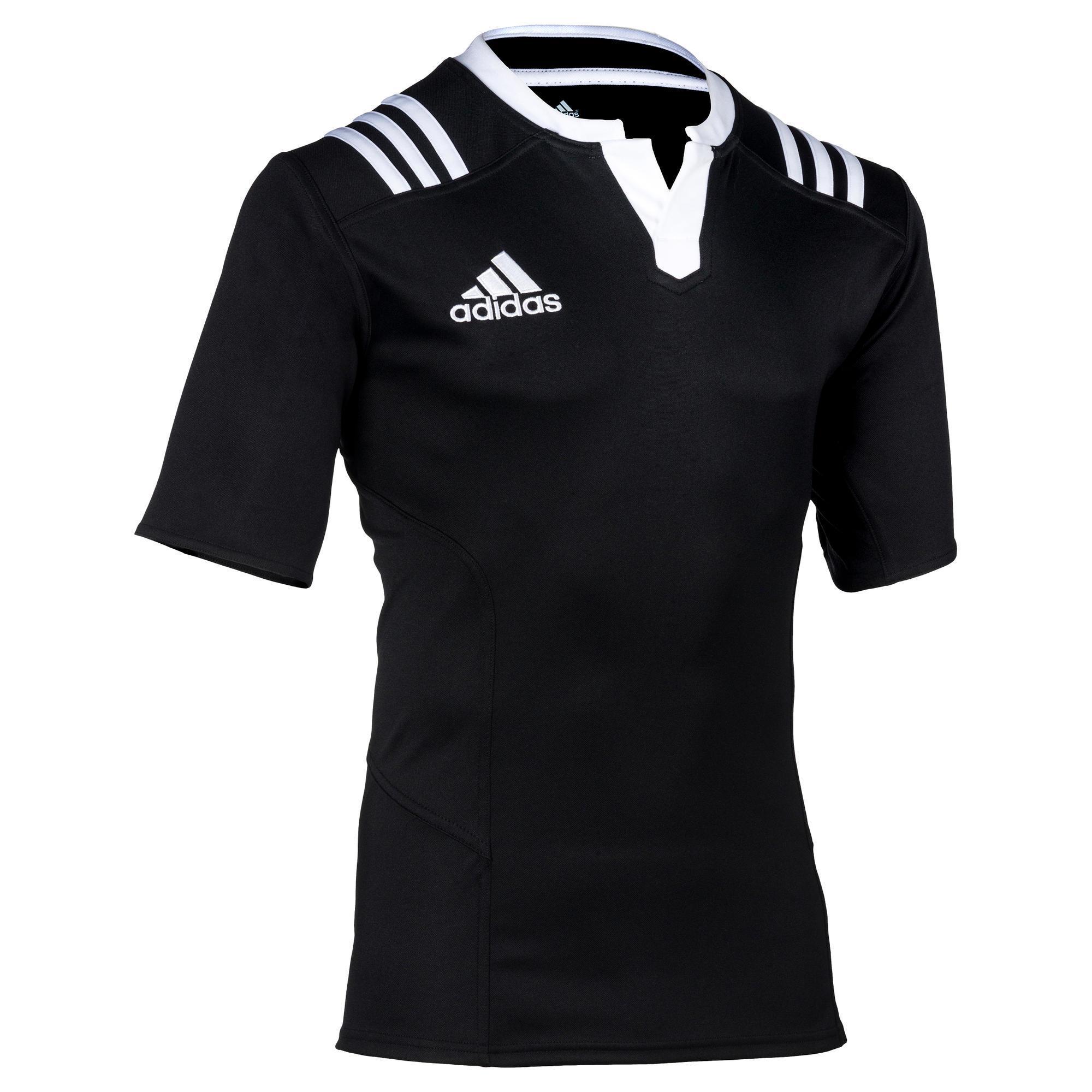 Rugbytrikot 3S Erwachsene schwarz/weiß | Sportbekleidung > Trikots > Sonstige Trikots | Schwarz - Weiß | Adidas