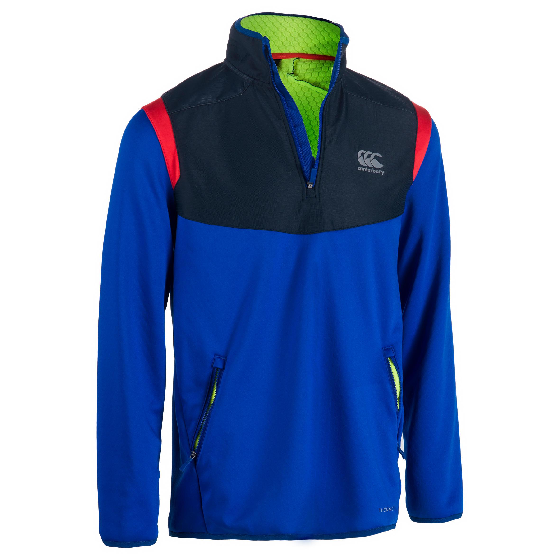 Canterbury Trainingssweater Spacer voor rugby volwassenen blauw