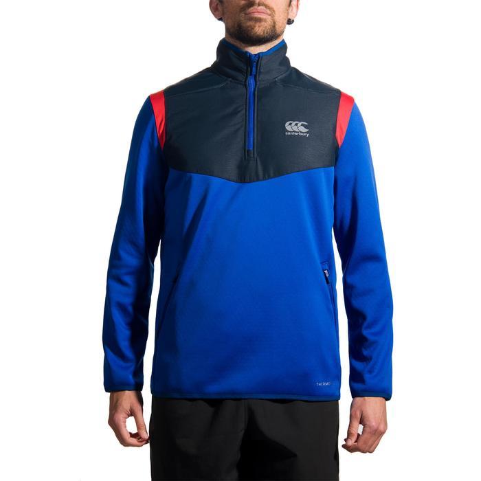 Sweat entraînement rugby Spacer adulte bleu - 1206147