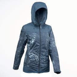 SH100 X-Warm女款雪地健行外套-青花瓷藍印花