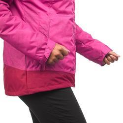 女款超保暖雪地健行外套SH100-粉紅色