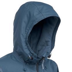女款超保暖雪地健行外套SH100 -湛藍色