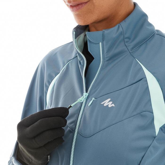 Veste ski de fond coupe vent femme grise