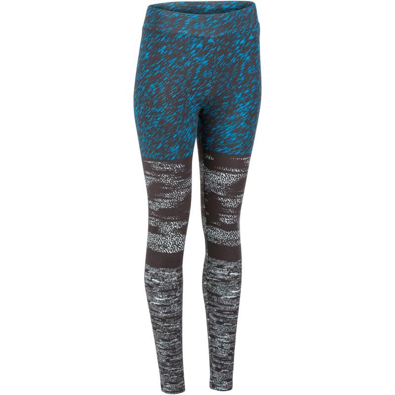 4d4c188e32 Women's Gym & Pilates Slim-Fit Leggings - Black/Blue Print
