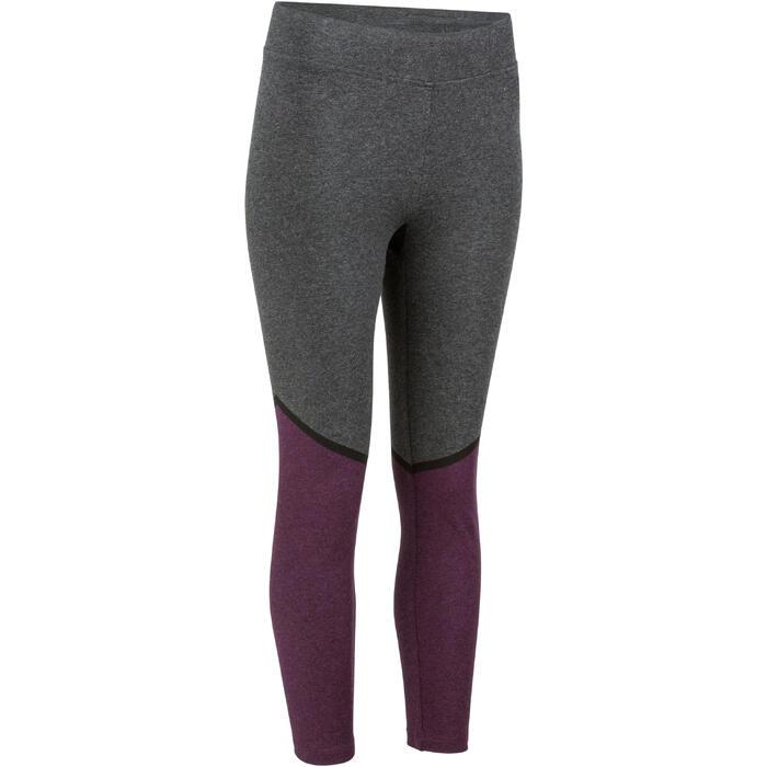 Legging 7/8 FIT+ 500 slim Gym & Pilates femme noir - 1206570
